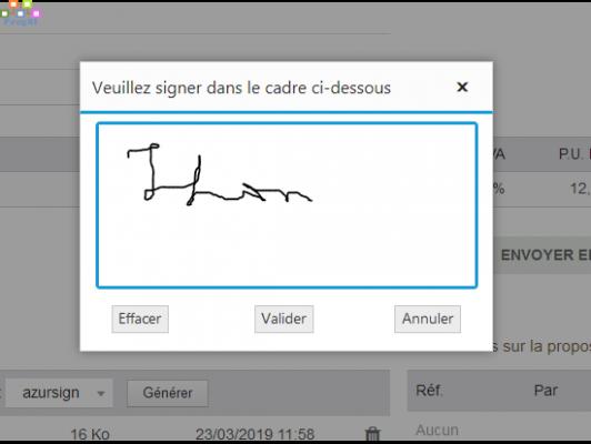 AzurSign, Signature Eléctronique pour les Propales Dolibarr