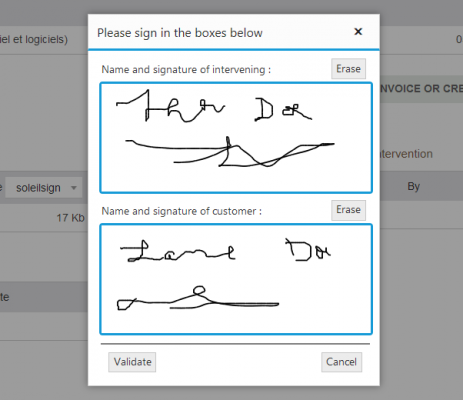 SoleilSign (Electronic Signature for Dolibarr Interventions)