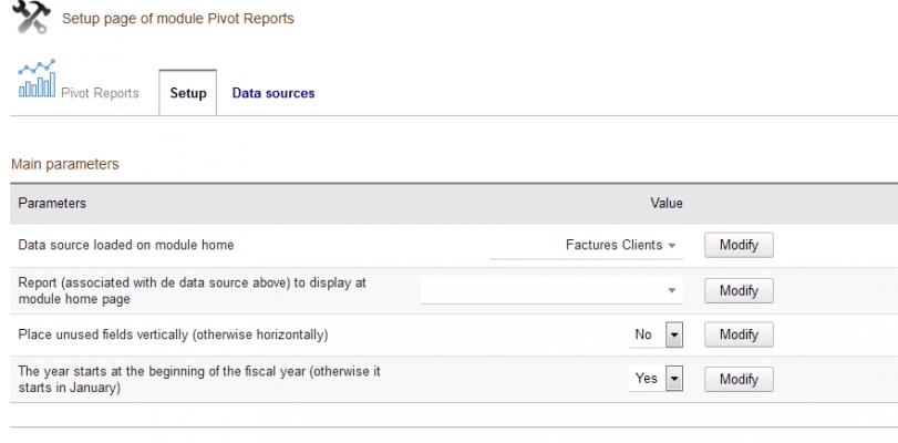 Pivot Reports - Parameters