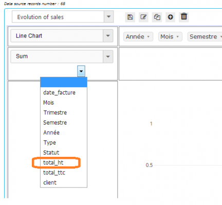Pivot Reports - Step 5: Selecting data source field for calculations