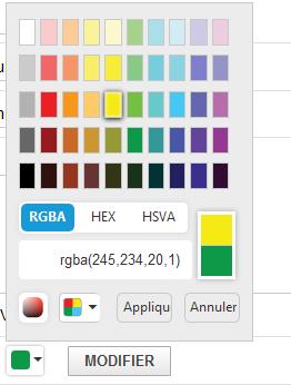 KanTickets - Modifier une couleur